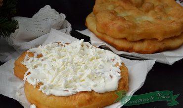 Langose cu cartofi- Krumplis Langos