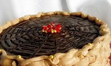 Tort crema de zahar ars cu piersici
