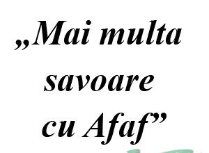 """Concurs: """"Mai multa savoare cu Afaf"""""""