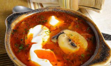 Supa de ciuperci cu galuscute
