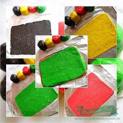 preparare Biscuti fragezi colorati