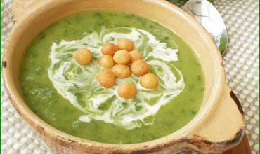 Supa crema cu dovlecei si leurda