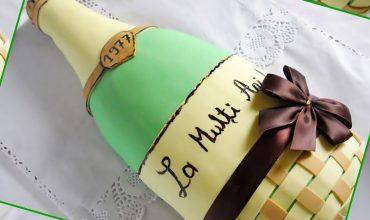 Tort Sticla Sampanie cu crema de vanilie
