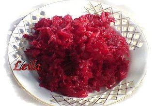 Salata de sfecla rosie si hrean