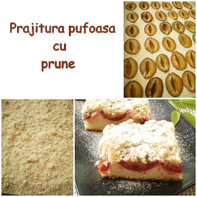 Prajitura pufoasa cu prune