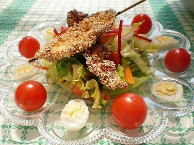 Salata iceberg in sos mediteranean