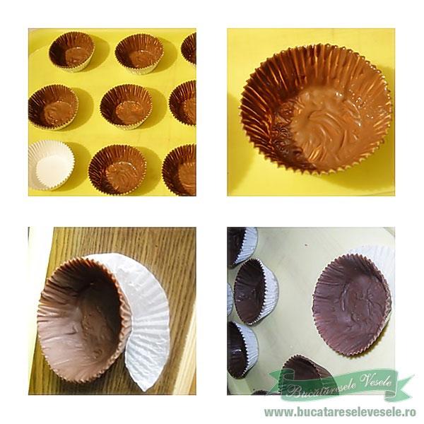 preparare cosulete de ciocolata