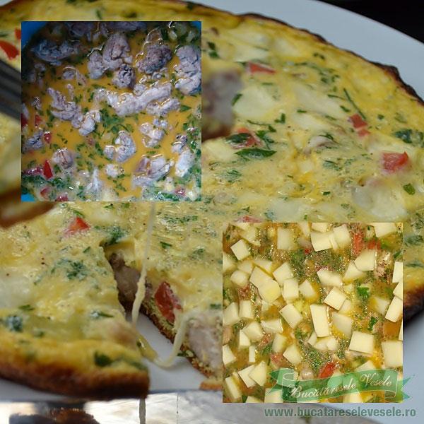 omleta cu creier si mozzarella
