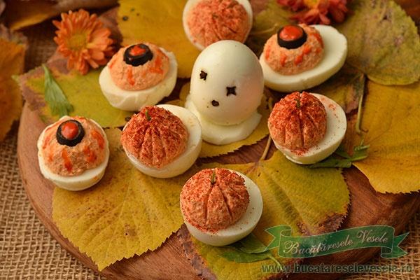 Oua umplute-Aperitiv Halloween