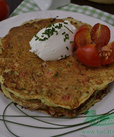 Pancakes cu Dovlecei si Cascaval