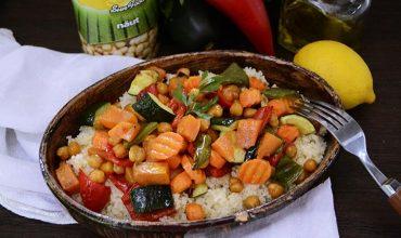 Cuscus cu naut si legume coapte