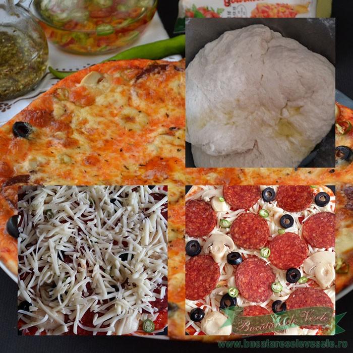 Pizza Diavolo preparare