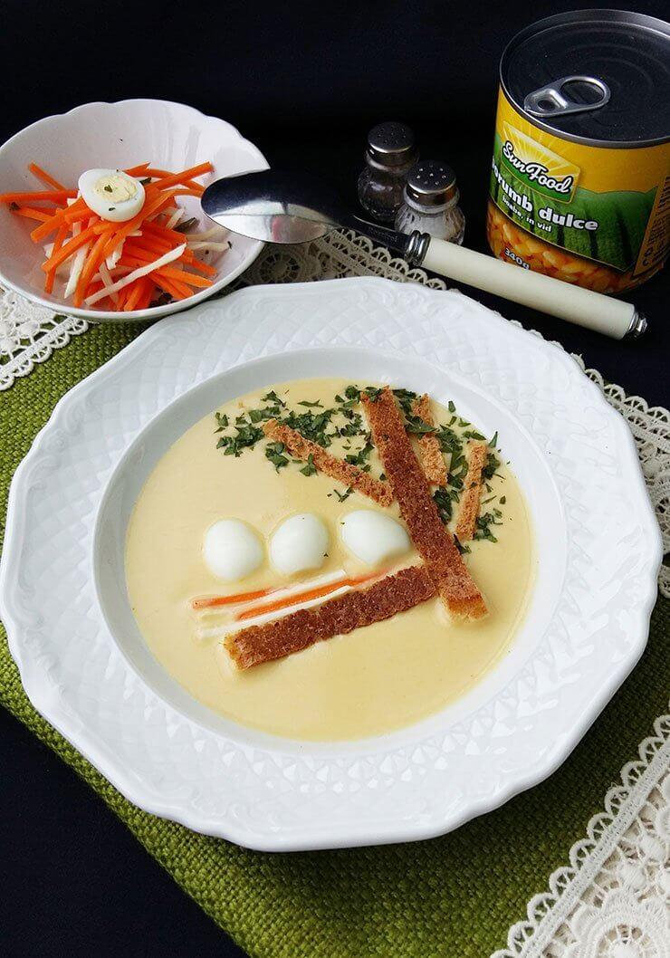 Supa crema de porumb cu oua