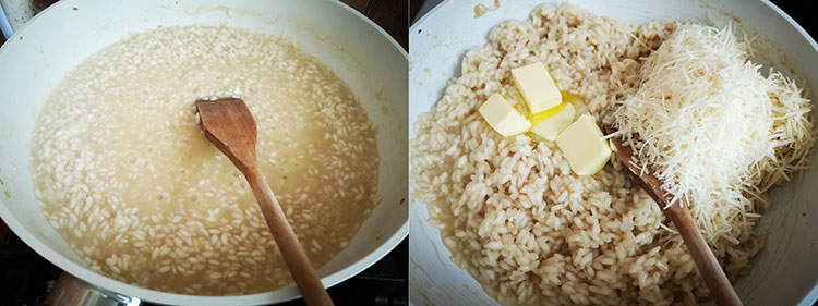 preparare orez cu parmezan